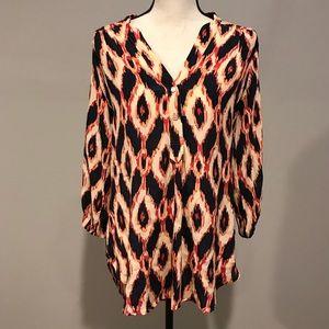Amour Vert Stitch Fix 100% Silk Tunic size M